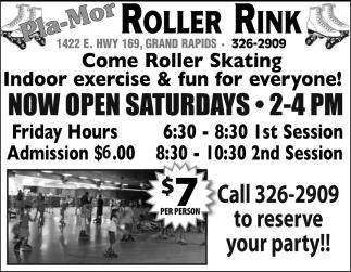 Now Open Saturdays