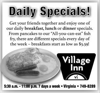 Daily Specials!