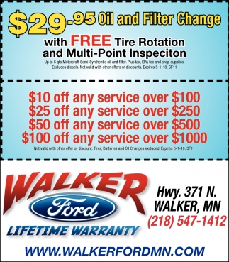$29.95 Oil And Filter Change