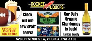 Check Out Our New Craft Beers!