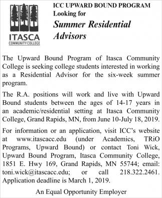 Summer Residential Advisors