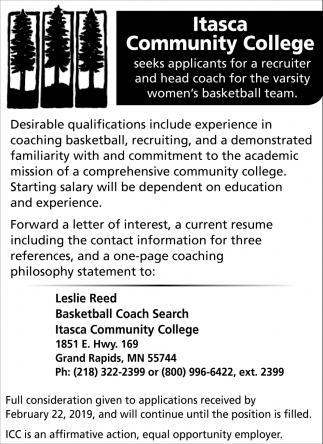 Seeks Applicants