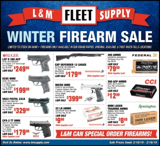 Winter Firearm Sale