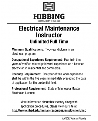 Electrical Maintenance Instructor