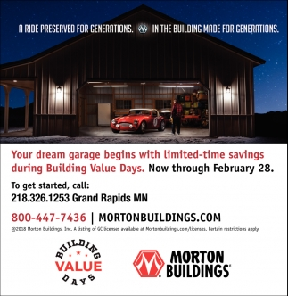 Your Dream Garage , Morton Buildings, Grand Rapids, MN