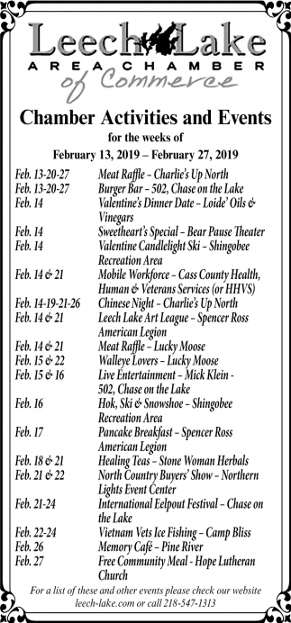 Chamber Activities And Events