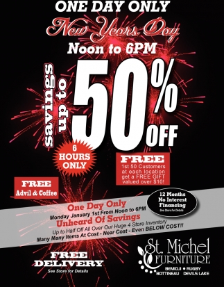 Savings Up To 50% Off, St. Michel Furniture