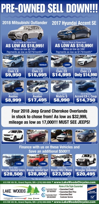 Pre-Owned Sell Down!!!