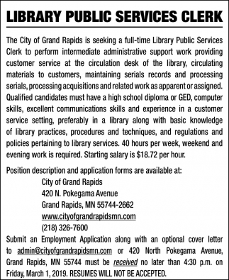 Library Public Service Clerk
