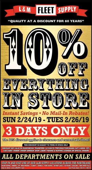 10% Off Everything In Store