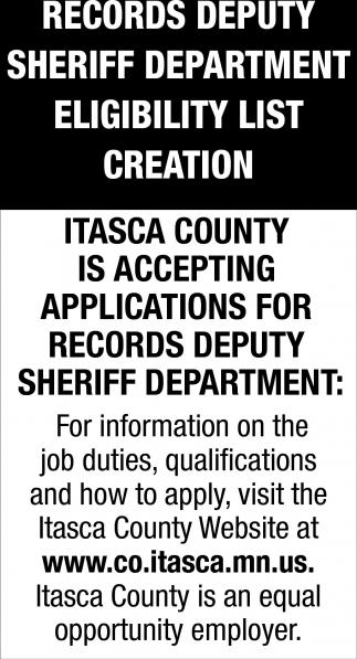Records Deputy Sheriff