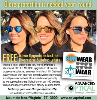 Glare Protection Is Needed Year Round