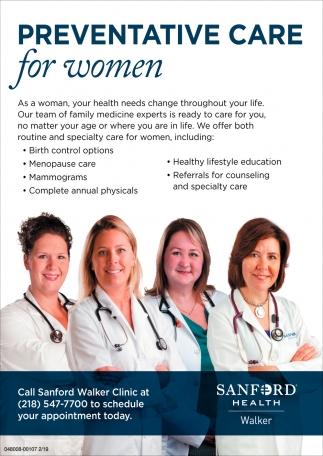 Preventative Care For Women
