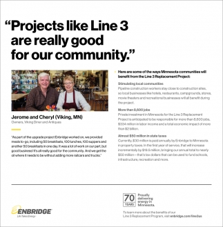 Projects Like Line 3 Are Really Good For Our Community