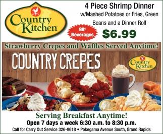 4 Piece Shrimp Dinner , Country Kitchen Restaurant , Grand ...
