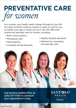 Preventative Care For Women