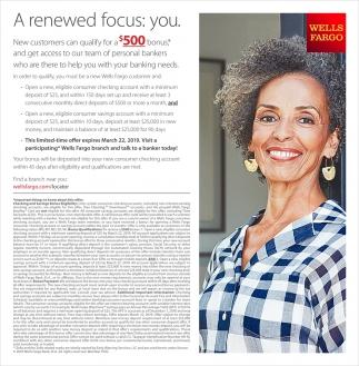 A Re-Newed Focus: You, Wells Fargo Bank, Hibbing, MN