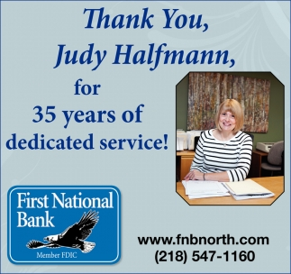 Thank You, Judy Halfmann