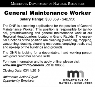 General Maintenance Worker