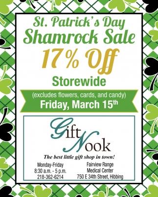 St. Patric's Day Shamrock Sale