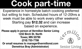 Cook Part-time