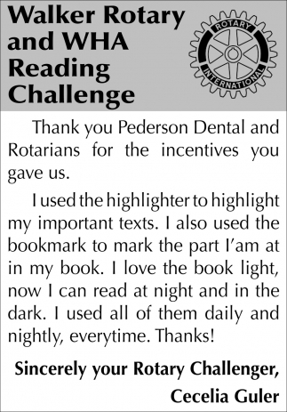 Thank You Pederson Dental