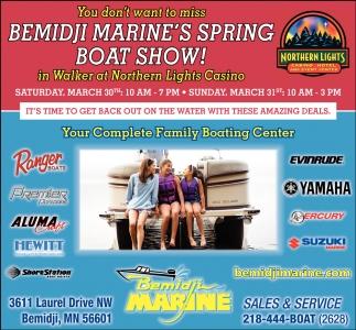 Bemidji Marine's Spring Boat Show!