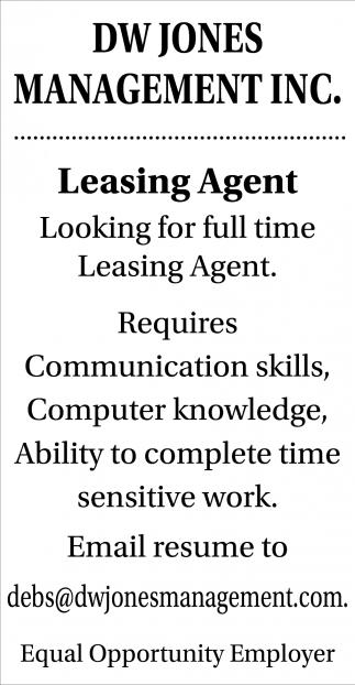 Leasing Agent
