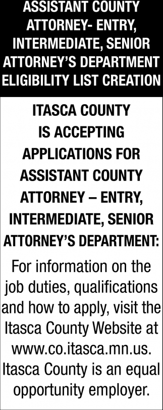 Assistant County Attorney