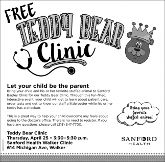 Free Teddy Bear Clinic
