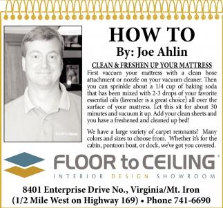 How To By: Joe Ahlin