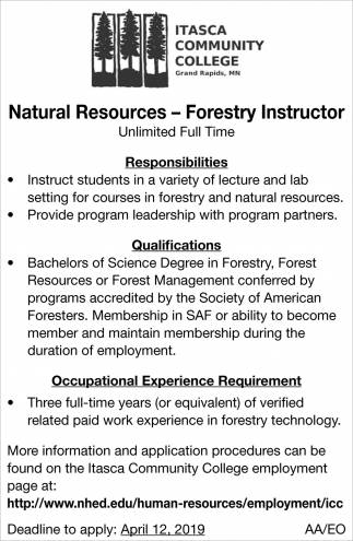 Forestry Instructor