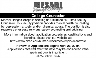 College Counselor
