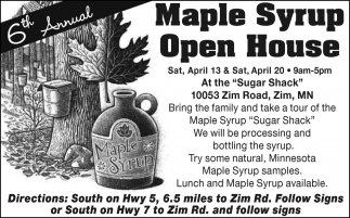 Maple Syrup Open House