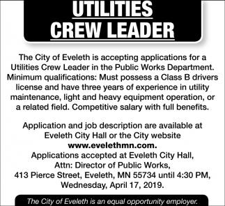 Utilities Crew Leader