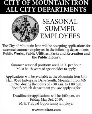 Seasonal Summer Employees