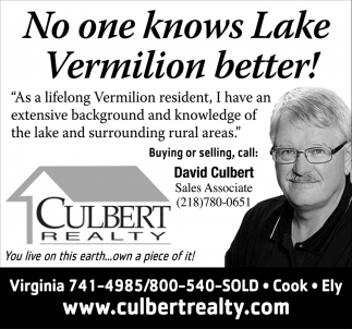 No One Knows Lake Vermilion Better!