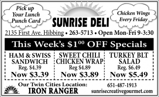 This Week's $1.00 Off Specials