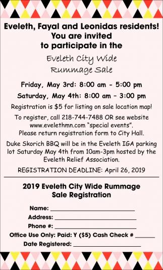 Eveleth City Wide Rummage Sale , City Of Eveleth, Eveleth, MN