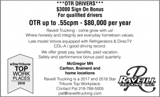 OTR Up To $80,00 Per Year