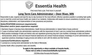 Long Term Care Administrator