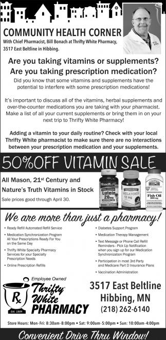50% Off Vitamin Sale