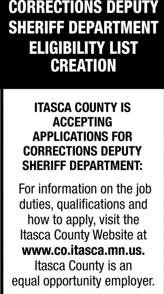 Corrections Deputy Sheriff Deparmet Wanted!