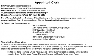 Appointed Clerk