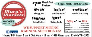 $7.00 Breakfast