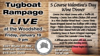 5 Course Valentine S Day Wine Dinner The Woodshed