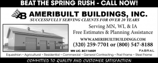 Beat The Spring Rush - Call Now!