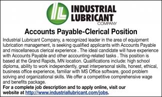 Accountants Payable-Clerical Position