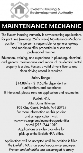 Maintenance Mechanic