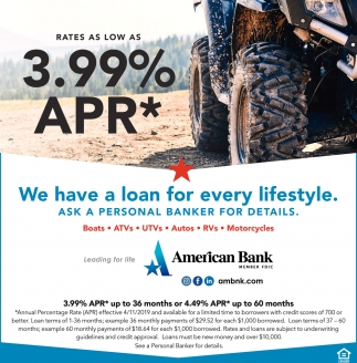 We Have A Loan For Every Lifestyle